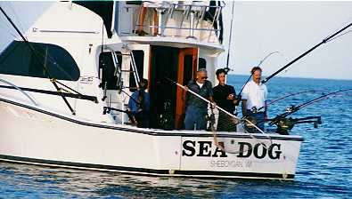 Fishing on Sheboygan Charter Boats